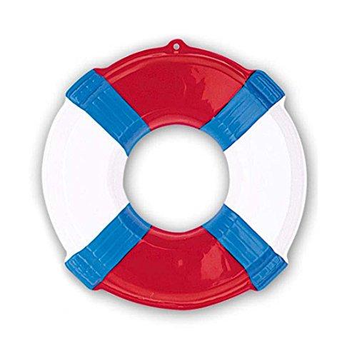 NET TOYS Deko Rettungsring Wanddeko 3D Rettungsreifen rot Maritime Hängedeko Wurfring Dekohänger Seefahrt Schwimmring Baywatch Wurfreifen Poolparty Dekoration Schwimmreifen