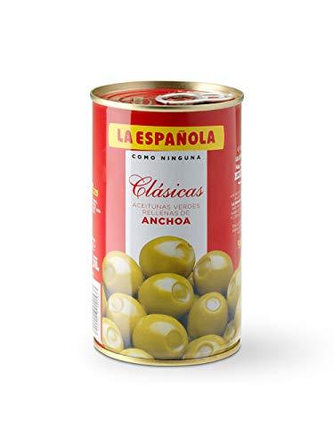 "Oliven gefüllt mit Sardellenpaste / Aceitunas rellenas de anchoa \""La Espanola\"" - 350 gr"