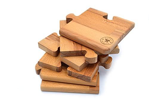 Tabla de cortar de haya mod. Puzzle medida 48 x 32 grosor 2 cm