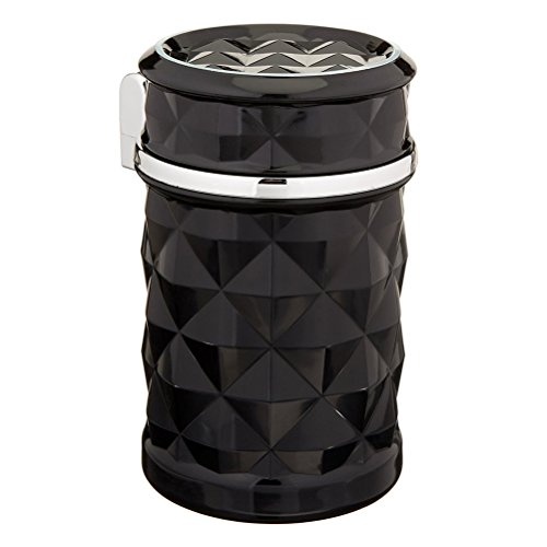 winomo voiture Cendrier sans fumée Cendrier Support de voiture avec lumière LED bleue pour support voiture Cup (Noir)