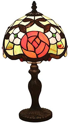 Lámpara de mesa estilo Arte de 8 pulgadas creativo rojo rosa pastoral estilo minimalista lámpara de cama lámpara...