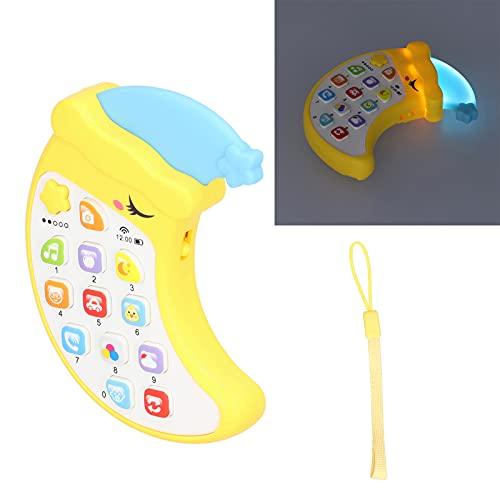 Juguete para teléfono, teléfono celular de juguete para Evelop, capacidad de pensamiento para desarrollar la precepción musical para desarrollar la audición del niño(yellow)