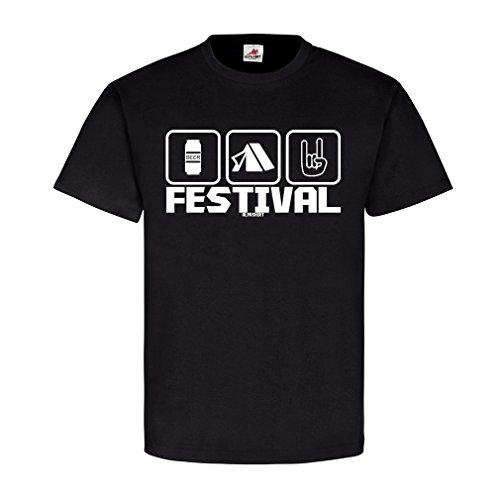 Festival pictogram Rock Party Beer Bier Fun Fete muziek muziek muziek tenten concert open lucht zomer plezier T-shirt #20546