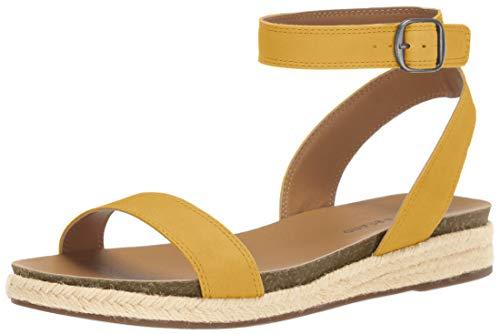 Price comparison product image Lucky Brand Women's GARSTON Espadrille Wedge Sandal,  Ochre,  9 M US