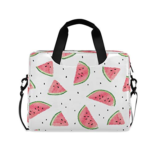 ALARGE Laptop Case Sleeve Abstract Fruit Watermelon Paint 15-16 inch Briefcase Travel Tote Messenger Notebook Computer Crossbody Bag with Strap Handle for Women Men