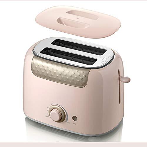 YHSFC Multifunktionale Toaster Breadfast Maschineneinstellung hat Staubschutz Doppelseitiges Backen rosa/grün 220V 680W,Rosa