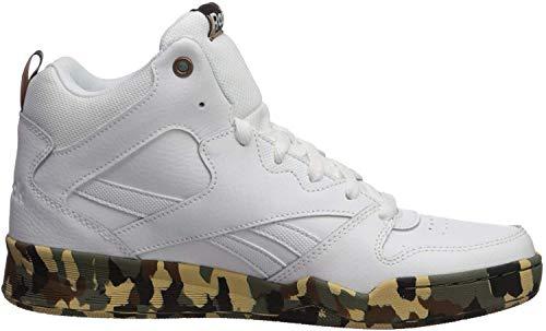 Reebok Men's Royal BB4500 HI2 Basketball Shoe, white/white/camo, 8 M US