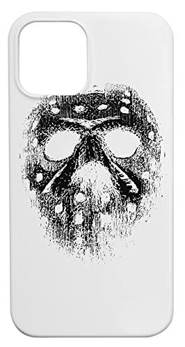 Hockey Máscara Caja del Teléfono para iPhone 12, iPhone 12 Pro Concha Dura Phone Case
