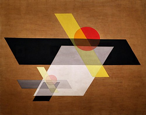 László Moholy Nagy Bauhaus Stil geometrischer Kunstdruck geometrische Wand-Kunst Bauhaus Kunst Bauhaus Grafik Design Bauhaus Poster Bauhaus Kunstdruck braun (30 x 45cm)
