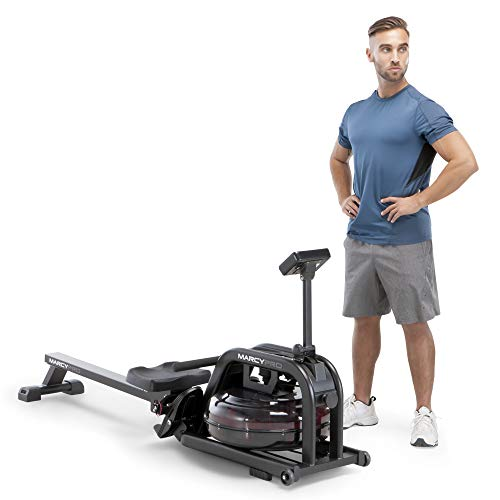 Best Deals! Marcy Water Rowing Machine Cardio Training Equipment, 300-lb Capacity NS-6070RW, Black