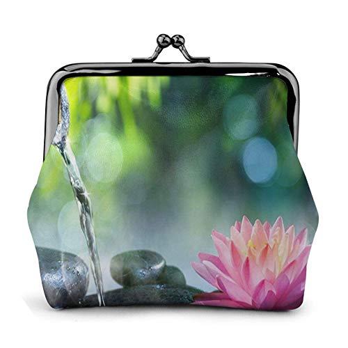 Gartenblume Geldbörse Geldbörse Bule -Lo Kleine Leder Wechselbeutel Geschenk für Frauen