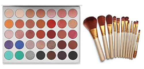 Khelni Morphe Cosmetics Eyeshadow Palette With 12 Pcs Makeup Brush Set