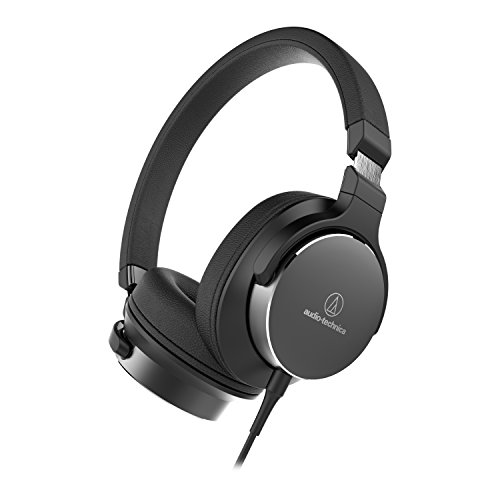 Audio-Technica ATH-SR5BK On-Ear High-Resolution Audio Headphones, Black