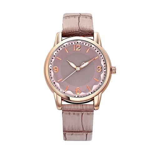 HFQJTU Relojes de Mujer, Mujer de Moda Reloj de Pulsera de Cuarzo con Banda de Acero Inoxidable y Cuero de la PU, Elegantes Relojes de Mujer Regalos de Reloj de Pulsera de Negocios para Ella