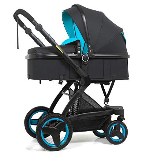 XYSQ kinderwagen Lichtgewicht, Baby Carriage, met mand 4 in 1 kinderwagens Opvouwbare draagbare kinderwagen, Convertible Baby kinderwagens-geschikt voor kinderen 0-3 jaar oude enkele kinderstoel