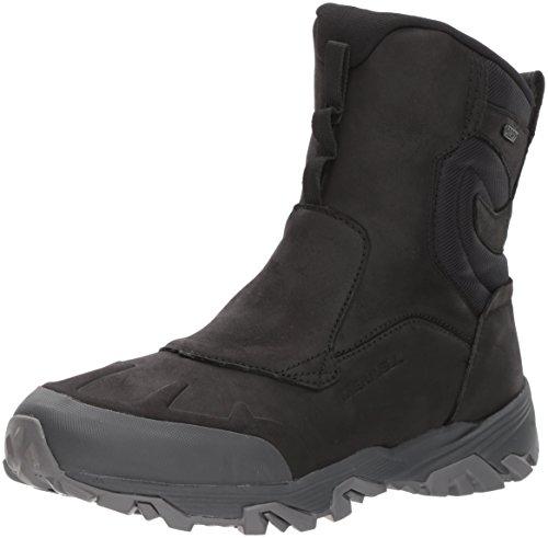 """Merrell Men's COLDPACK ICE+ 8"""" Zip Polar Waterproof Snow Boot, Black, 15 M US"""