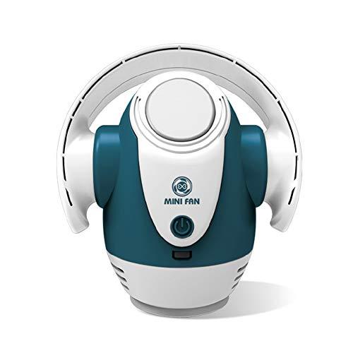 SXFYMWY Ventilador sin Cuchillas Ventilador de Mesa USB Ventilador de refrigeración Mini Ventilador portátil para el hogar Dormitorio Habitación de bebé Oficina al Aire Libre