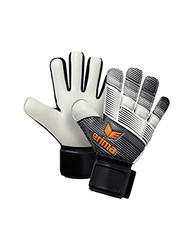 ERIMA Erwachsene Torwarthandschuhe SKINATOR Hybrid Training, schwarz/weiß/neon orange, 9, 5, 7221905