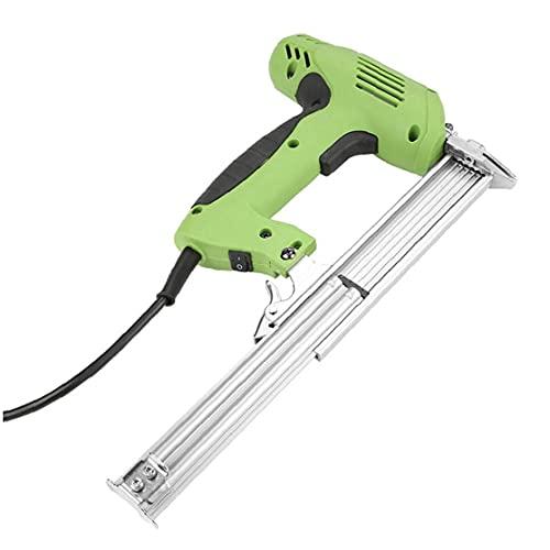 Nailer eléctrico Grapadora Tacker Mano clavado herramienta de grapas Herramienta de alto rendimiento para muebles, carpintería, techos, pisos 1pc