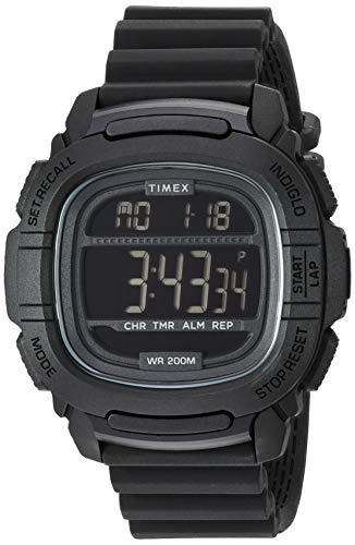 Timex Men's TW5M26100 Command 47mm Black Silicone Strap Watch