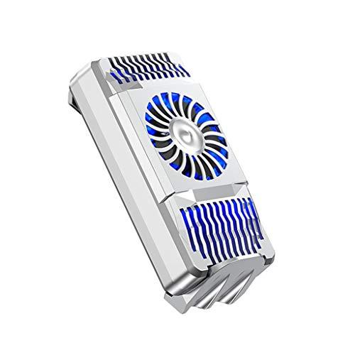 TWDYC Portátil Smart Mobile Cooler Fan USB Fan Lightweight Radiador Anti-Ruido Handheld Stand Stand (Color : Silver)