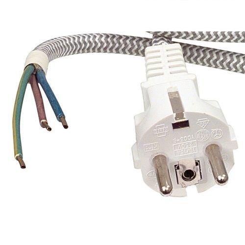 CABLEPELADO Cable de alimentacion para Plancha 3 M Blanco