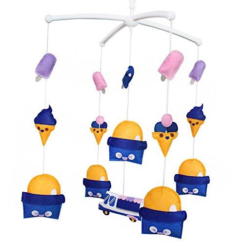 Décoration de pépinière de cadeau de jouet mobile de lit de bébé fait main pour 0-2 ans, MQ33