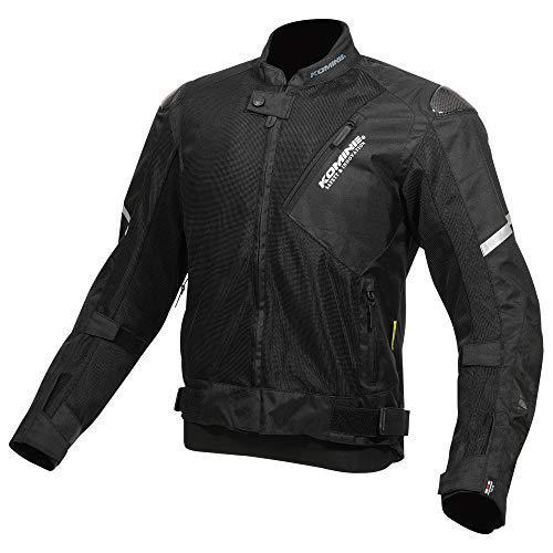 コミネ(KOMINE) バイク用 カーボンプロテクトメッシュジャケット ブラック XL JK-137 春夏秋向け メッシュ素材 プロテクター CE規格