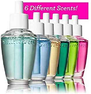 Bath & Body Works 6-Pack Wallflowers Sampler Fragrance Refills, 6 Different Scents, Assorted Colors