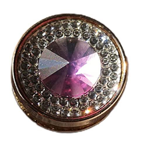 HANBOLI, alfileres magnéticos Redondos con Diamantes de imitación, Broche musulmán para Bufanda, Chal Brillante Multiusos, Hebilla magnética, Accesorios para Ropa
