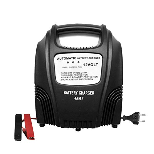 Cargador Baterias Coches 12V 2.4A Cargador Automático De Batería De Automóviles AGM Gel Mojo LLEGADOR DE PLAZAJE DE CARGER DE LA BATERÍA para Coches Motos Barco (Color : Black, Size : US)
