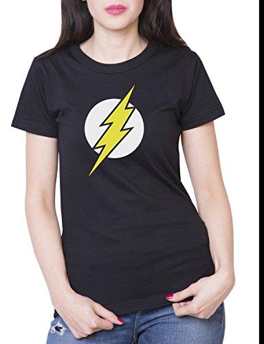 Flash T-shirt pour femme The Big Bang Theory Sheldon Superhero - Noir - S