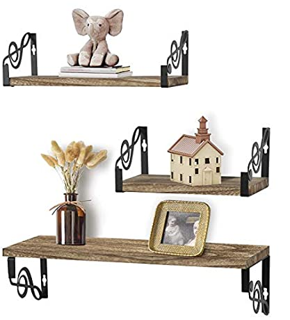 50%OFF  Floating Shelves Wall Mounted Set of 3   ☑  With Code $14.99