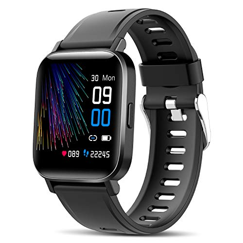 Canmixs Smartwatch Orologio Uomo Donna Impermeabile IP68 Bluetooth Fitness Smart Watch Cardiofrequenzimetro da polso Contapassi Calorie Digitale 1,54   Touch Sportivo Activity Tracker per Android iOS