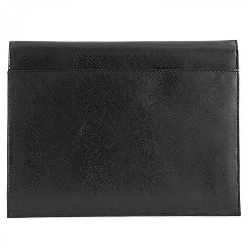 ROYALZ Funda Protectora de Cuero para Apple iPad Air 4 (Apple iPad Air 2020) 10.9 Inch Tablet Sleeve Case Protectora Cover de Vintage, Color:Negro