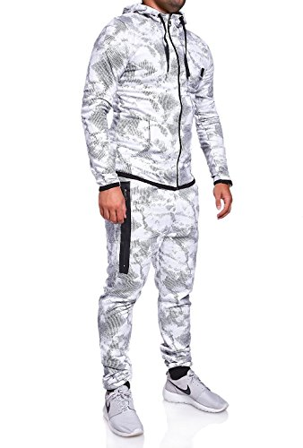 MT Styles Trainingsanzug mit Zipper Hose R-739 [Weiß, M]