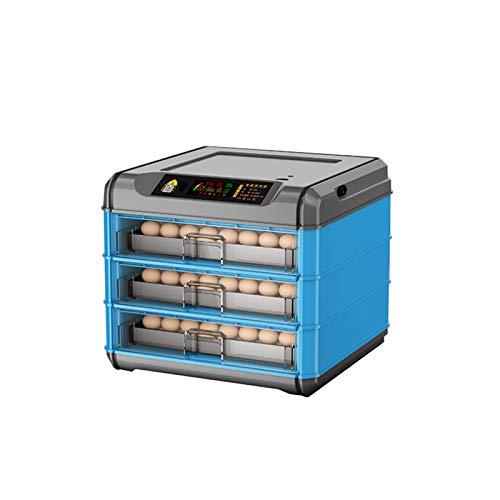 Brutmaschine Vollautomatisch Hühner Eier Brutgerät , 192 Eier Elektronischer Thermostat, Umwälzluftventilator, Automatischer Eierwender Mit Temperaturregelung, Wachtelgans-Schlupfeier(Color:Blau)
