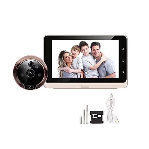 Tglabayun Mirilla de puerta digital para cámara IR, 5 pulgadas OLED, pantalla gran angular de 160 grados, visión nocturna mirilla para puerta digital, fotos y vídeo para la seguridad doméstica