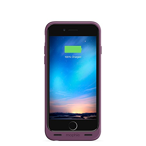 Mophie juice pack reserve - Lightweight and Compact Protective Battery Case for iPhone 6s & iPhone 6 (NOT Plus) Purple (Renewed)