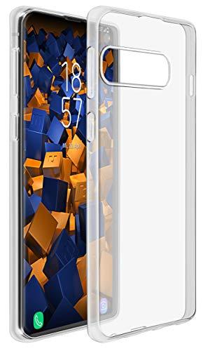 mumbi Hülle kompatibel mit Samsung Galaxy S10 Handy Hülle Handyhülle dünn, transparent