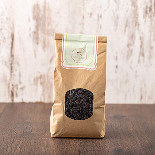 süssundclever.de® Bio Langkornreis | schwarz | vollkorn | 2 kg (2 x 1 kg) | unbehandelt | plastikfrei und ökologisch-nachhaltig abgepackt