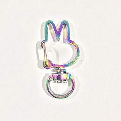Broche De Presión Hebillas Llavero Llavero De Metal Ganchos De Cierre De Langosta Llavero Llavero De Coche Fabricación De Joyas Gift-19_Rabbit