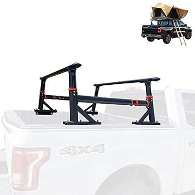 Truck Bed Racks Extendable Brackets Multi-Function All Aluminum Alloy Pickup Ladder Rack for Most Pickup Truck