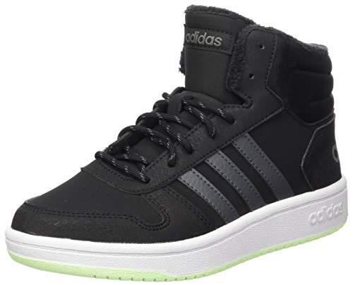 adidas Unisex Kinder Hoops Mid 2.0 Basketballschuh, CBLACK/GRESIX/GREFOU, 38.5 EU