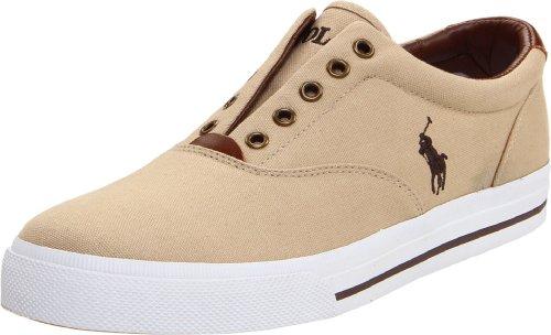 commercial Polo Ralph Lauren Men's Vito Khaki 11.5D US grey polo sneakers