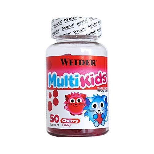 JOE WEIDER VICTORY Multikids Up Cherry. 50 gummies. Complejo vitamínico para niños. Producto 100% vegetal y sin gluten
