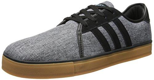 adidas NEO Men's LVS Lifestyle Skateboarding Sneaker, Core Black/Black/Lead, 13 M US