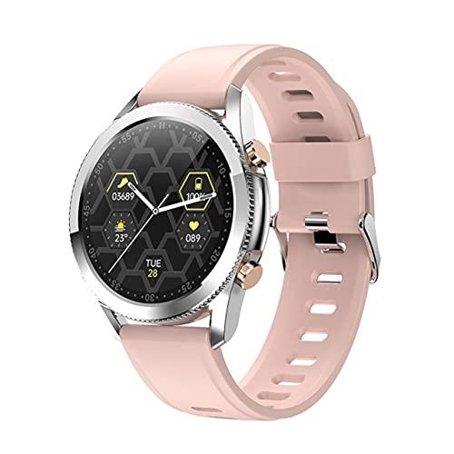 Zhou-YuXiang Reloj Inteligente I12 con Pantalla táctil Completa a Color de 1,3 Pulgadas, Hombres y Mujeres, frecuencia cardíaca Resistente al Agua con Llamada telefónica, música, rastreador Deportivo