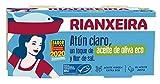 RIANXEIRA. Atún Claro con un toque de Aceite de Oliva Virgen Extra Ecológico y Flor de Sal. Certificación de pesca sostenible MSC. Pack de 16 latas x 65g.