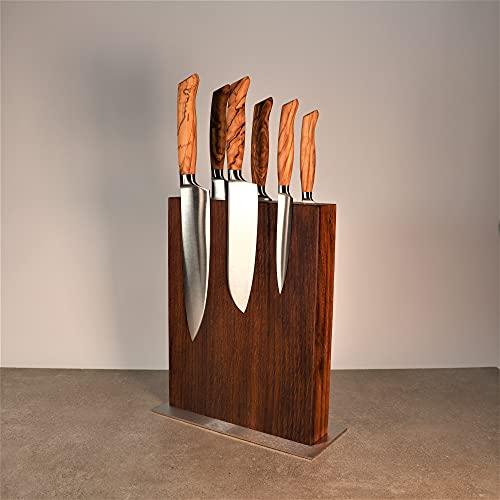 Kai Shun Premier Tim Mälzer - Juego de regalo para hombre (madera de barrica, 25 x 15 cm, madera de roble)